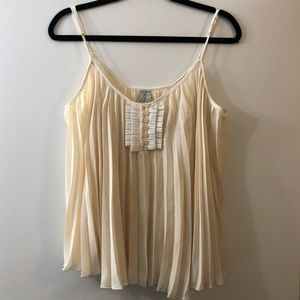Free People Pleated Top Blouse